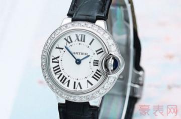 表镜摔裂的二手卡地亚手表回收值钱吗