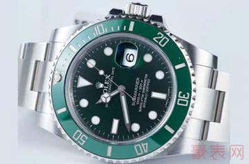 爆款劳力士绿水鬼二手表能卖多少钱