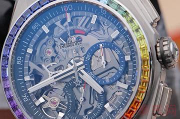 中性的真力时彩虹圈腕表值得回收么