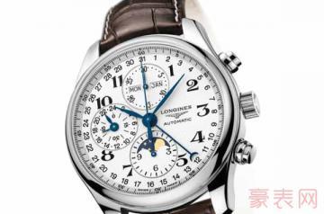 使用了2年的双眼计时浪琴手表能卖多少钱
