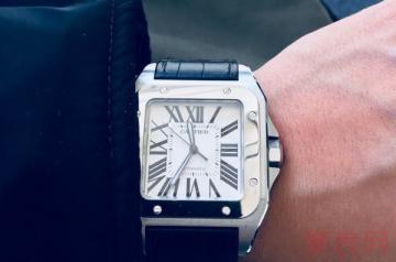 二手卡地亚山度士100手表能卖多少钱