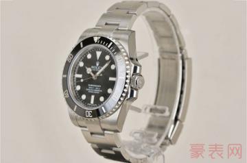 劳力士黑鬼手表二手能卖多少钱