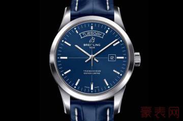 二手手表百年灵越洋星期日历能卖多少钱