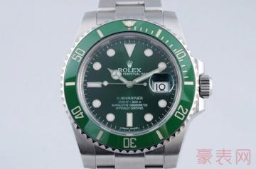 高仿的劳力士绿水鬼手表回收几折
