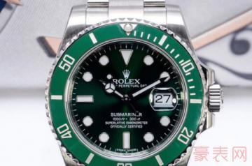 劳力士绿鬼二手手表能卖多少钱