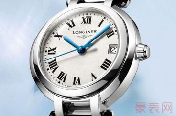 三年前买的浪琴心月手表回收能卖多少钱