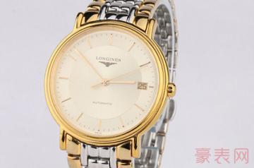 浪琴1万4的手表带了3年回收能卖多少钱